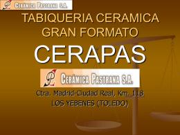 TABIQUERIA CERAMICA GRAN FORMATO CERAPAS