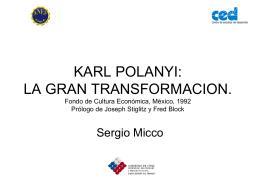 KARL POLANYI: LA GRAN TRANSFORMACION. Fondo de …