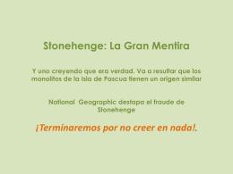 La gran mentira de Stonehenge (pps)
