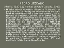 PEDRO LEZCANO (Madrid, 1920