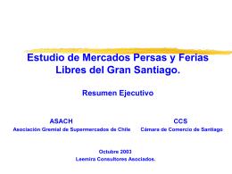 Estudio de los Mercados Persas y Ferias del Gran Santiago