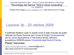 Lezione 001 6 Aprile 2009