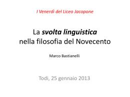 La svolta linguistica nella filosofia del Novecento