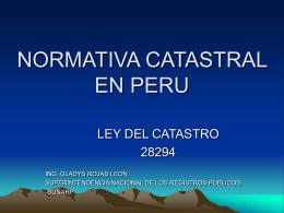 NORMATIVA CATASTRAL EN PERU