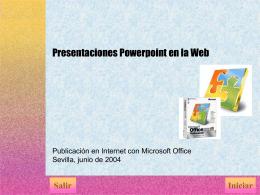 Presentaciones Powerpoint en la web