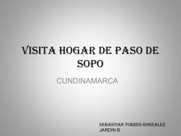 VISITA HOGAR DE PASO DE SOPO