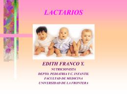 LACTARIOS - Facultad de Medicina UFRO
