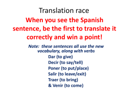 Translation race