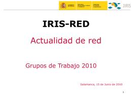 plantilla presentacion ppt - RedIRIS