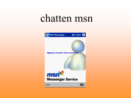 Un dialogue sur msn