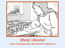 Concilio Vaticano II - Plataforma Acoger y Compartir