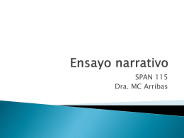 Ensayo narrativo - SPAN 115 | Just another …