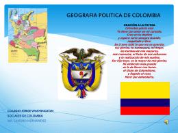 GEOGRAFIA POLITICA DE COLOMBIA