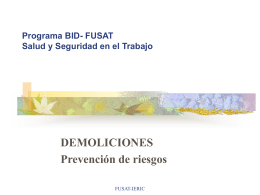 Programa BID- FUSAT Salud y Seguridad en el Trabajo