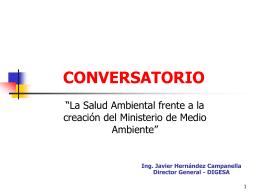 Presentacion digesa diapositiva 1 - ForoSalud