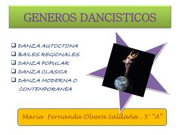 GENEROS DANCISTICOS