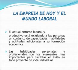 LA EMPRESA DE HOY Y EL MUNDO LABORAL