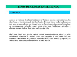 TIPOS DE CLIMAS EN EL MUNDO - Biblioteca Central de la