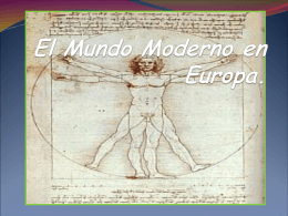 El Mundo Moderno en Europa.