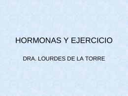 HORMONAS Y EJERCICIO