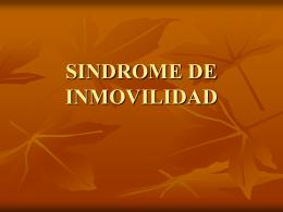 SINDROME DE INMOVILIDAD - Pixelnet e