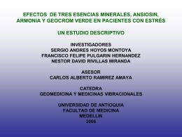 EFECTOS DE TRES ESENCIAS MINERALES, ANSIOSIN, …