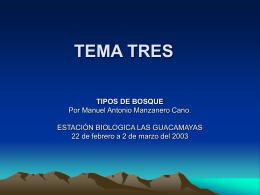 TEMA TRES
