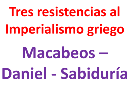 Tres resistencias al Imperialismo griego