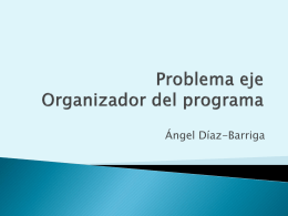 Problema eje Organizador del programa