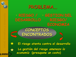 PROBLEMA... - DISASTER info DESASTRES