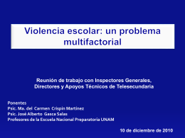 Violencia escolar: un problema multifactorial