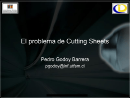 El problema de Cutting Sheets