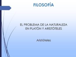 EL PROBLEMA DE LA ANTURALEZA EN PLATON Y EN …