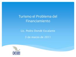 Turismo el Problema del Financiamiento
