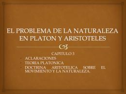 EL PROBLEMA DE LA NATURALEZA EN PLATON Y …