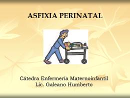 ASFIXIA PERINATAL - Facultad de Medicina - UNNE