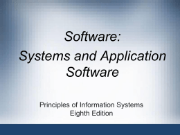 System and Application Software . ppt