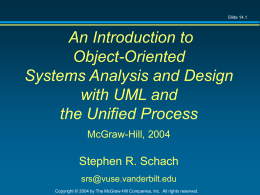 An Introduction to Object-Oriented Systems Analysis …
