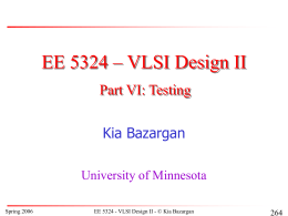 PowerPoint Presentation: EE5324 Memory Design