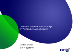BT Wholesale CIO - CRM B2B Options