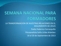 SEMANA NACIONAL PARA FORMADORAS Y FORMADORES