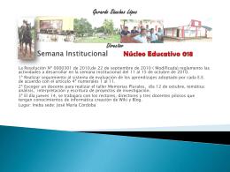 Semana Institucional