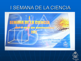 I SEMANA DE LA CIENCIA - Colegio Cristo Rey Madrid