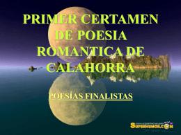 PRIMER CERTAMEN DE POESIA ROMANTICA DE …