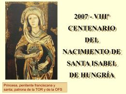 Primer encuentro con santa Isabel