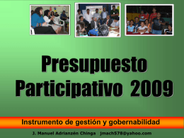 Diapositiva 1 - Municipalidad de Surquillo