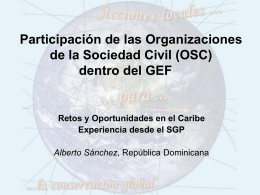 La Sociedad civil dentro del GEF