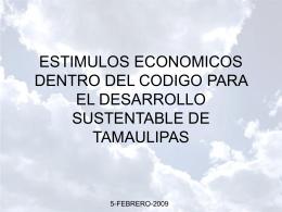 ESTIMULOS ECONOMICOS DENTRO DEL CODIGO PARA …