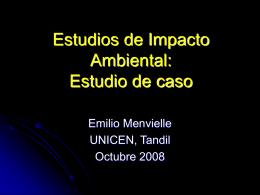 Estudio de Impacto Ambiental - Facultad de Ciencias Exactas