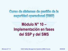 ICAO SMS Module 10 - SMS phased approach